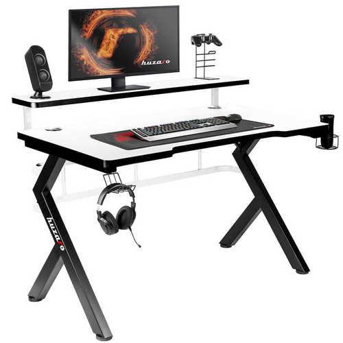 Ultra nowoczesne biurko gamingowe HZ-Hero 5.0 White