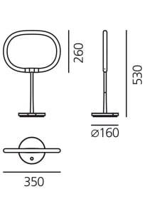 Lampa stołowa Artemide HALO small 3