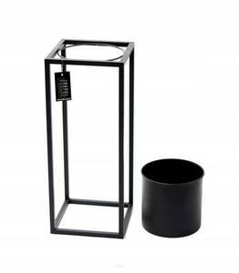 Kwietnik metalowy stojak z donicą na rośliny UGO 60cm czarny loft small 7