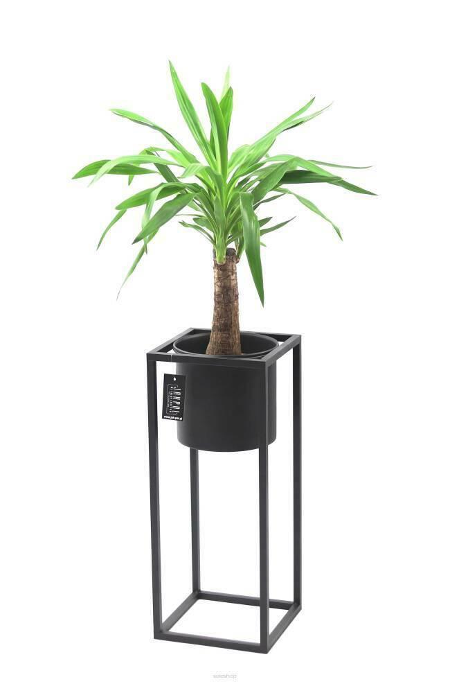Kwietnik metalowy stojak z donicą na rośliny UGO 60cm czarny loft