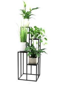 Kwietnik metalowy stojak na cztery kwiaty METALLO 112cm czarny LOFT  small 1