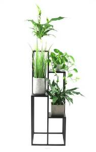 Kwietnik metalowy stojak na cztery kwiaty METALLO 112cm czarny LOFT  small 3