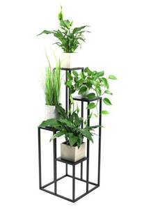 Kwietnik metalowy stojak na cztery kwiaty METALLO 112cm czarny LOFT  small 0