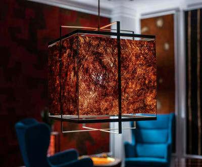 Unikalna lampa wisząca MBILI kora Kyambalo