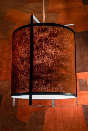 Niepowtarzalna lampa wisząca Tatu kora Kyambalo