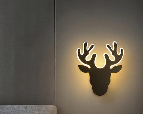 Kinkiet Jeleń Abigali Deer 2 Czarny