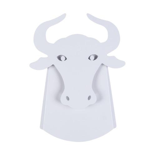 Lampa ścienna Byk Abigali Bull Biała