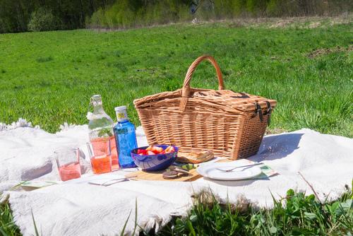 Wiklinowy koszyk piknikowy - handmade