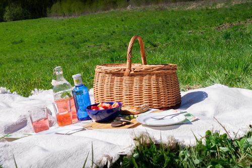Zamykany wiklinowy koszyk piknikowo/zakupowy - eco - handmade