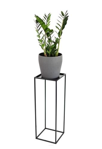Kwietnik LOFT metalowy stojak na jedną donicę 70cm czarny