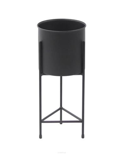 Kwietnik LOFT metalowy stojak z donicą FIORI 50cm czarny
