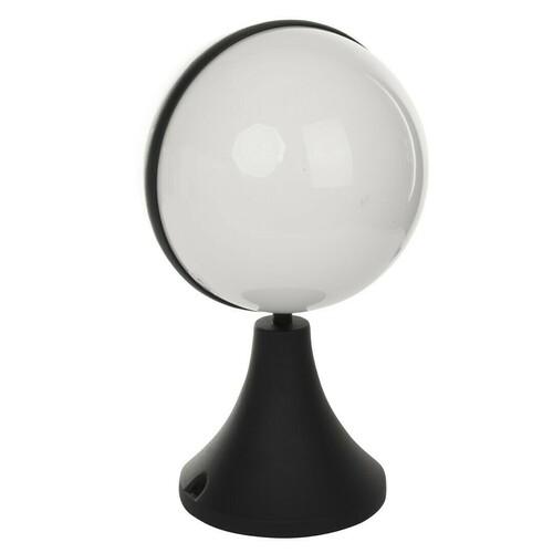 Czarna Lampa Ogrodowa Stołowa Circulo 1x E27 IP44