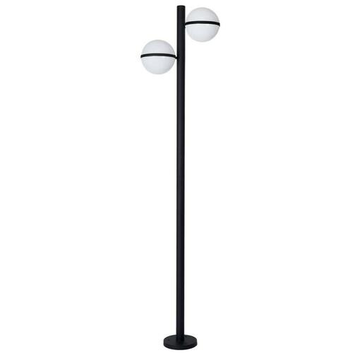 Czarna Lampa Ogrodowa Stojąca Circulo 2x E27 IP44