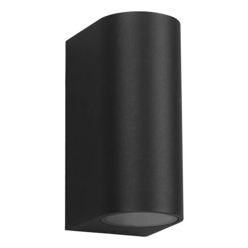 Czarny Kinkiet Ogrodowy Ovalis 2x Gu10 Ip44 IP44