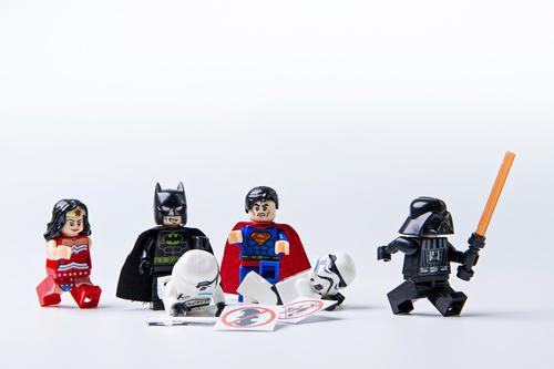Fototapeta LEGO, Wonder Woman, Batman, Superman, Star Wars, dzieci, zabawki