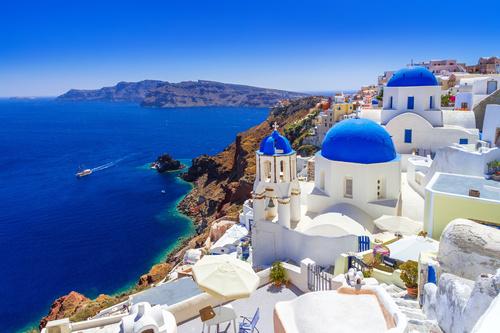 Fototapeta Grecja, morze, wakacje, architektura, plaża