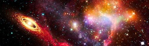 Fototapeta 3D, kosmos, Star Wars, gwiazdy, droga mleczna, asteroidy