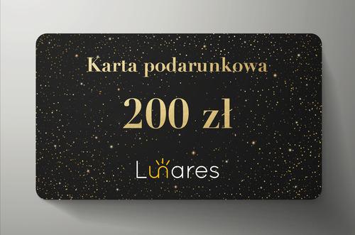 Karta podarunkowa Lunares 200zł