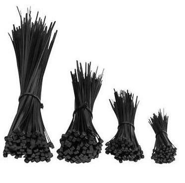 Opaski zaciskowe 200x3,6 czarne UV COBRA /100szt./