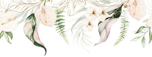 Fototapeta kwiaty, biały, pastelowe kolory, vintage, glamour, shabby chic, delikatność