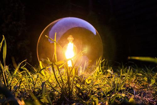 Kula ogrodowa 25cm transparentna LUNA BALL