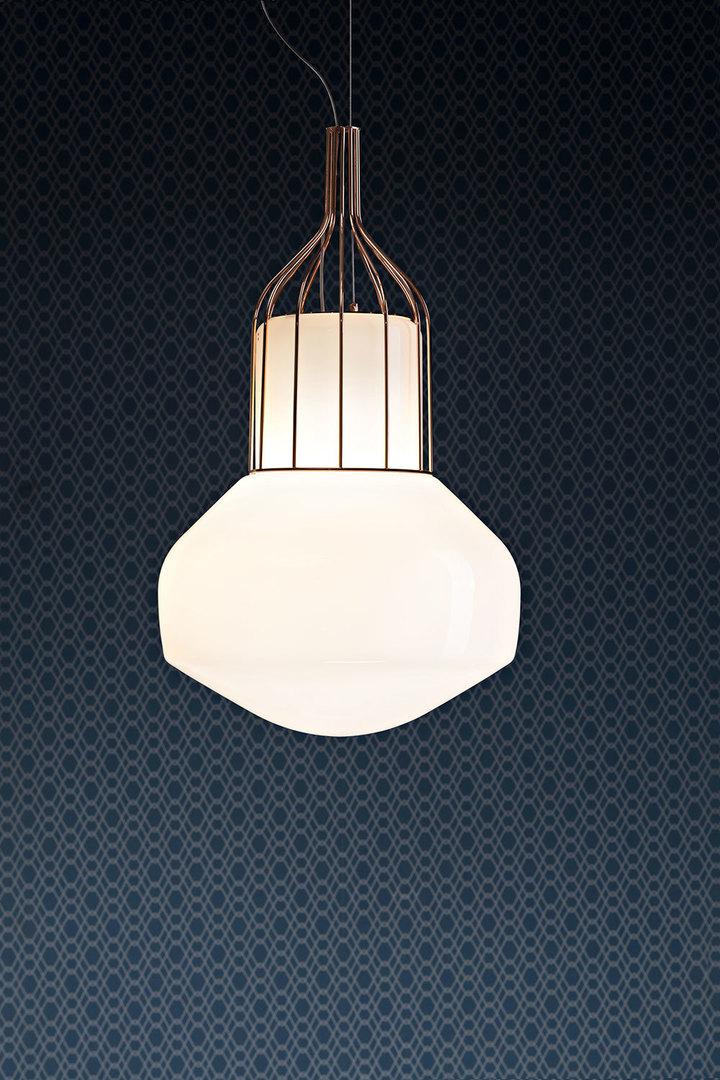 Lampa wisząca Fabbian Aérostat F27 33cm - czarny chrom - F27 A11 24