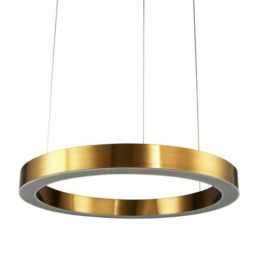 Lampa wisząca CIRCLE 60 LED mosiądz 60 cm