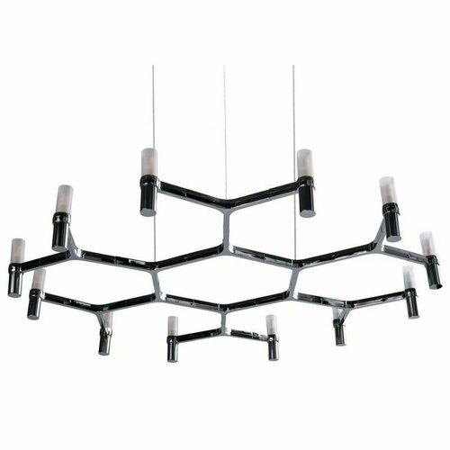Lampa wisząca CANDLES-12B chrom 106 cm