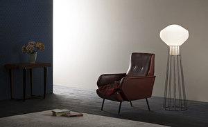 Lampa podłogowa Fabbian Aérostat F27 13W 43cm - naturalny - F27 C03 19 small 1
