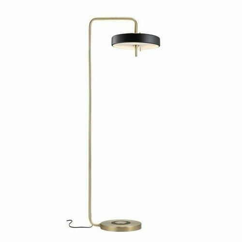 Lampa podłogowa ARTDECO czarno - złota 162 cm