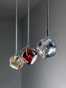 Lampa wisząca Fabbian Beluga Colour D57 7W - czerwony - D57 A11 03 small 2