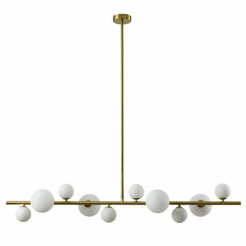 Lampa wisząca MILKY DROP złota 120 cm