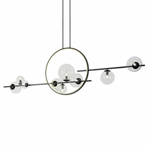 Lampa wisząca ORION DOUBLE czarna 145 cm