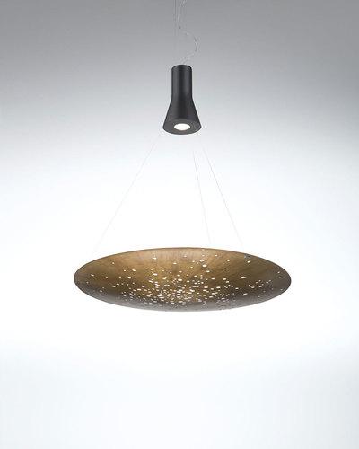 Lampa wisząca Fabbian Lens F46 24W 60cm - Brąz szczotkowany - F46 A01 14