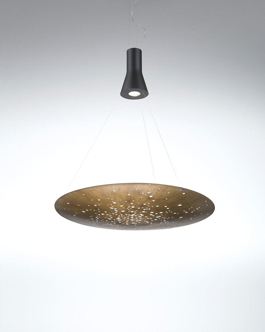 Lampa wisząca Fabbian Lens F46 24W 60cm - Rdzawy - F46 A01 56