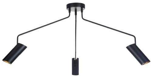 Loftowa Trójramienna czarna lampa wisząca Futuro 3