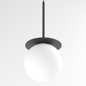 COTTON 350 fi160 wisząca max.1x4,8W, G9, 230V, przewód czarny, czarny (mat) RAL 9017 small 0