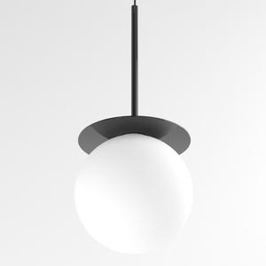COTTON 350 fi160 wisząca max.1x4,8W, G9, 230V, przewód czarny, czarny głęboki (połysk) RAL 9005 small 0