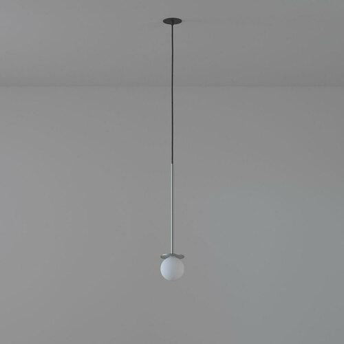 COTTON 450 fi100 wisząca wpust max.1x1,9W, G9, 230V, przewód czarny, kolor srebra (gładki mat)