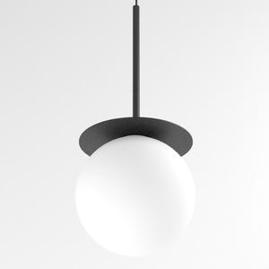 COTTON 450 fi160 wisząca max.1x4,8W, G9, 230V, przewód czarny, czarny głęboki (mat struktura) RAL 9005 small 0