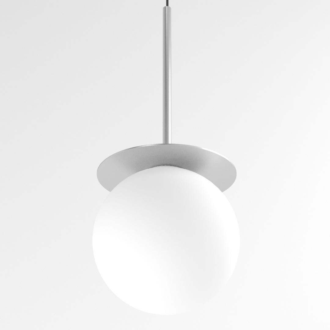 COTTON 450 fi160 wisząca max.1x4,8W, G9, 230V, przewód czarny, kolor srebra (gładki mat)