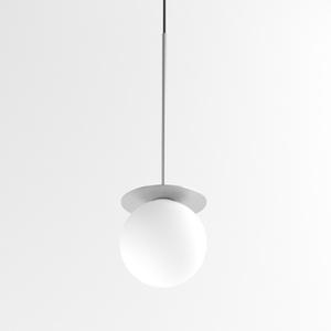 COTTON 500 fi100 wisząca max.1x1,9W, G9, 230V, przewód czarny, kolor srebra (gładki mat) small 0