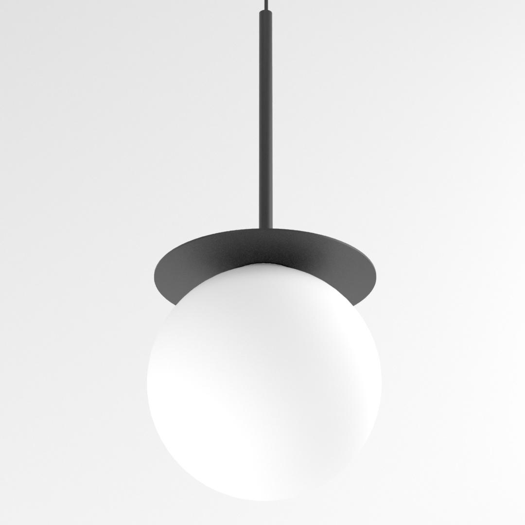 COTTON 500 fi160 wisząca max.1x4,8W, G9, 230V, przewód czarny, czarny (mat) RAL 9017
