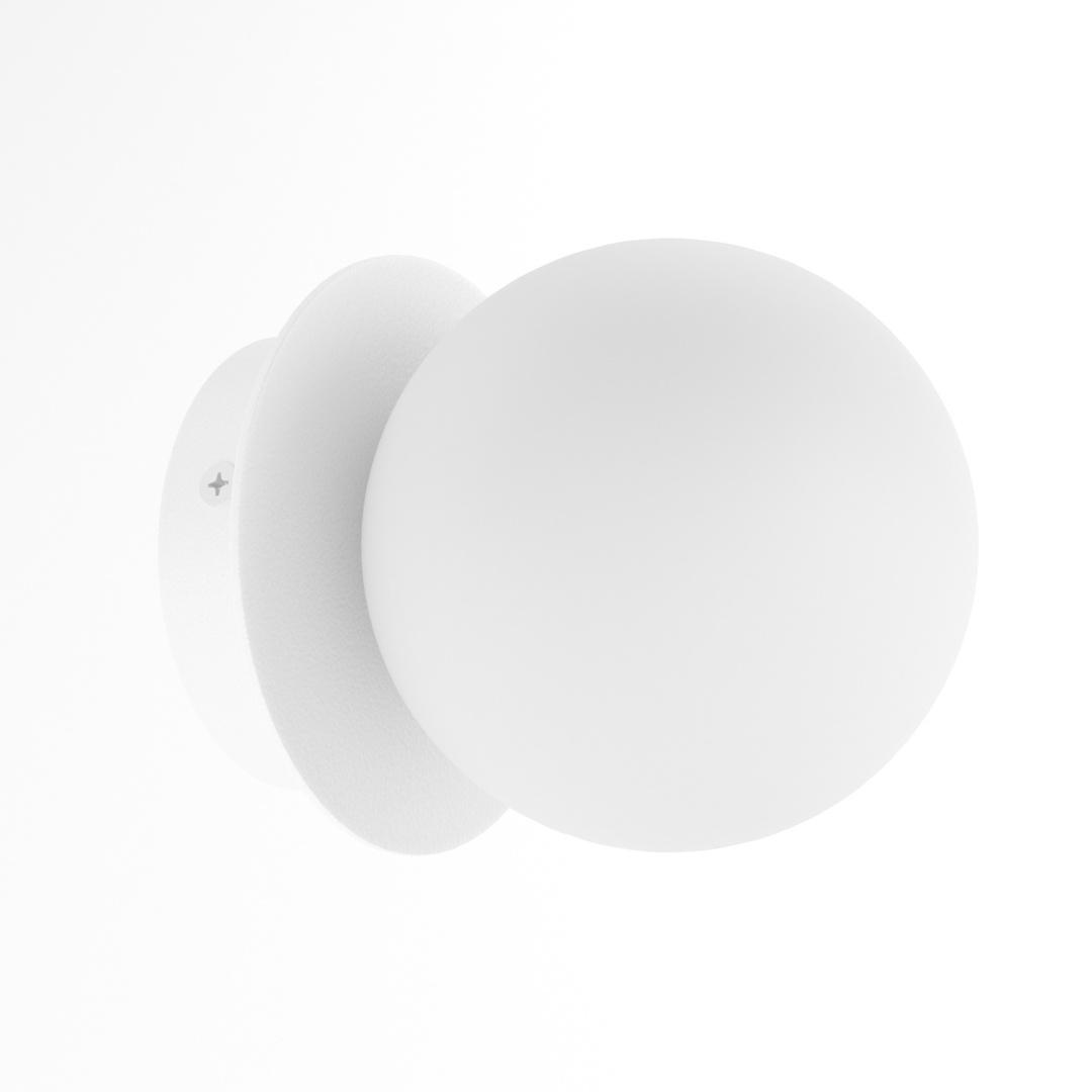 COTTON kinkiet fi100 max.1x1,9W, G9, 230V, biały  (mat struktura) RAL 9003