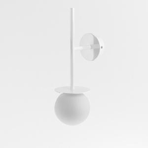 COTTON kinkiet fi100 max.1x1,9W, G9, 230V, biały  (połysk) RAL 9003 small 0