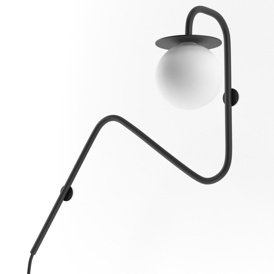 COTTON kinkiet fi100 max.1x1,9W, G9, 230V, czarny (mat) RAL 9017