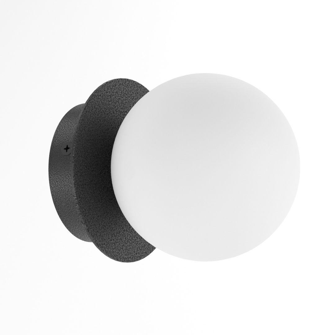 COTTON kinkiet fi100 max.1x1,9W, G9, 230V, czarny głęboki (mat struktura) RAL 9005