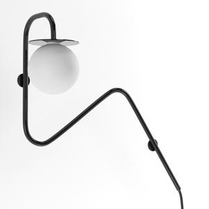 COTTON kinkiet fi100 max.1x1,9W, G9, 230V, czarny głęboki (połysk) RAL 9005 small 0