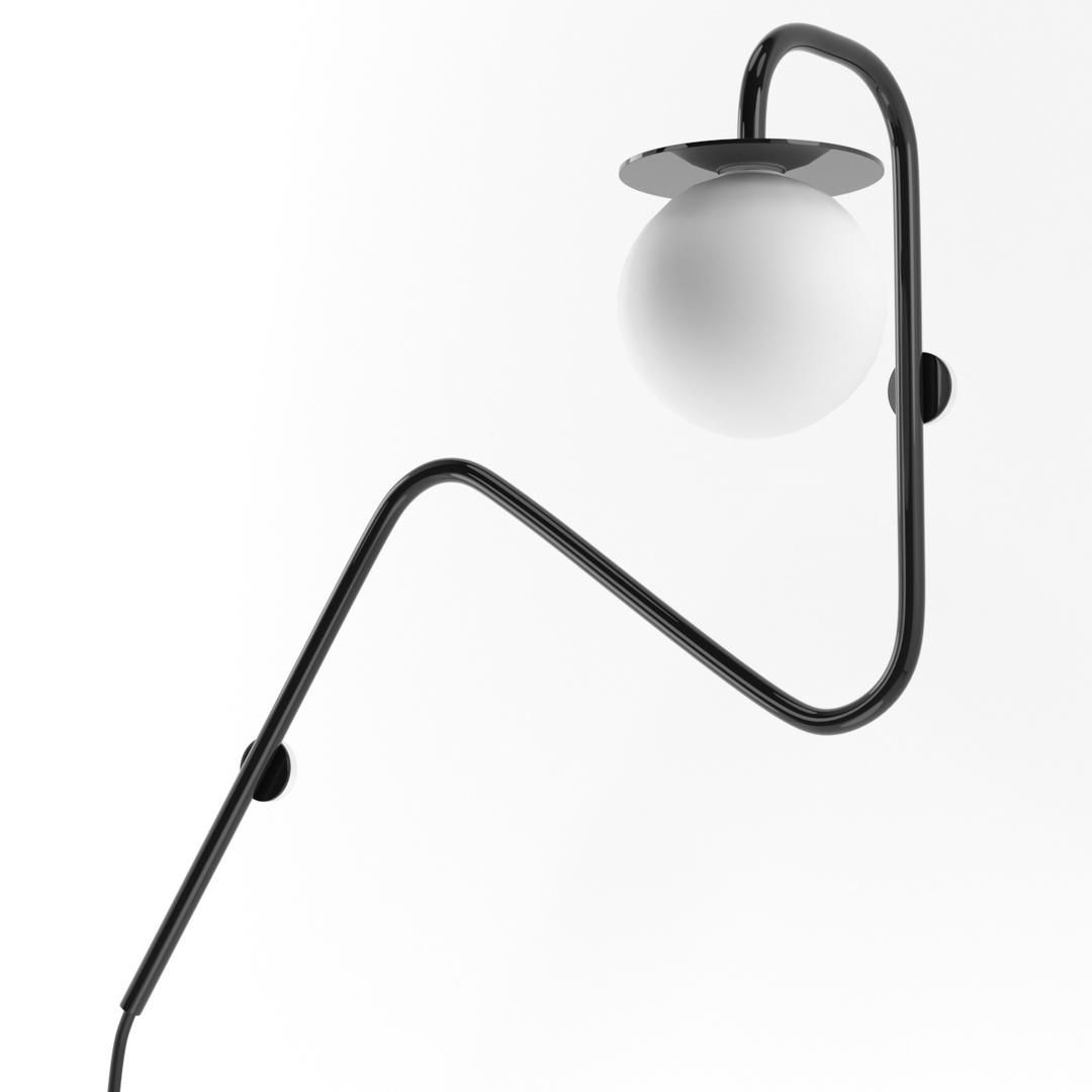COTTON kinkiet fi100 max.1x1,9W, G9, 230V, czarny głęboki (połysk) RAL 9005