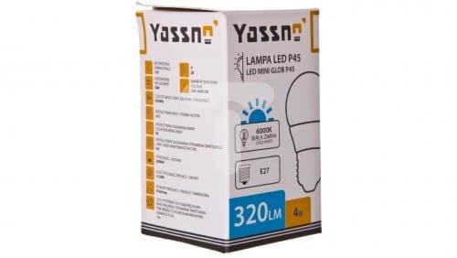 Yassno 4W=30W LED Biały Zimny 6000K E27